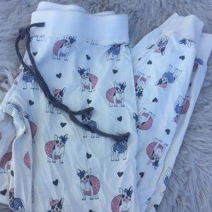 PJ Salvage pajama lounge pants French bulldogs